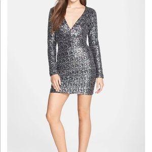 Dress The Population Bridget Sequin Dress Size M